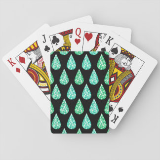 Watercolor gemstone playing cards