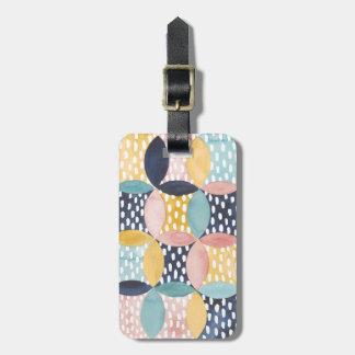 Watercolor Geometric Circles Bag Tag