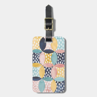 Watercolor Geometric Circles Luggage Tag