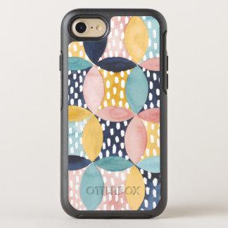 Watercolor Geometric Circles OtterBox Symmetry iPhone 8/7 Case
