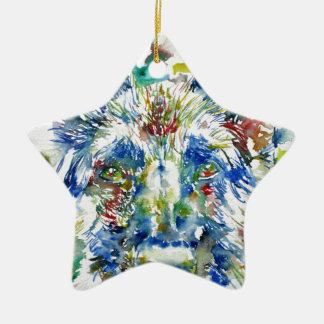watercolor german sheperd christmas ornament