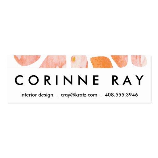 Watercolor Giraffe Pattern orange peach coral Business Card Templates