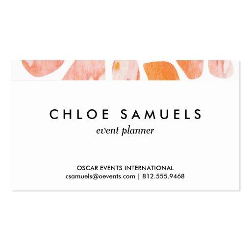 Watercolor Giraffe Pattern orange peach coral Business Card Template