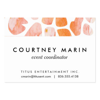Watercolor Giraffe Pattern orange peach coral Pack Of Chubby Business Cards