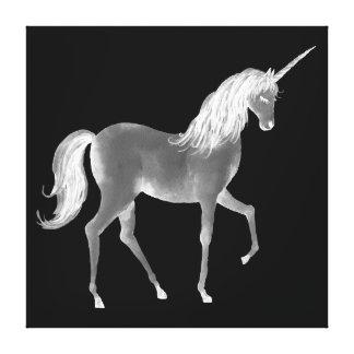 Watercolor Glowing Unicorn Canvas Print