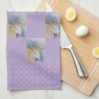Watercolor Goat Kitchen Towel