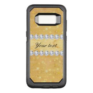 Watercolor Gold Foil Stars Diamonds OtterBox Commuter Samsung Galaxy S8 Case