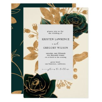 Watercolor Gold | Wedding Invitation