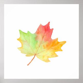 Watercolor Golden Maple Poster