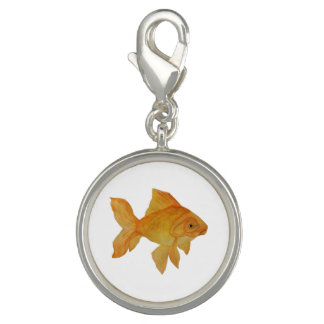 Watercolor Goldfish Charm