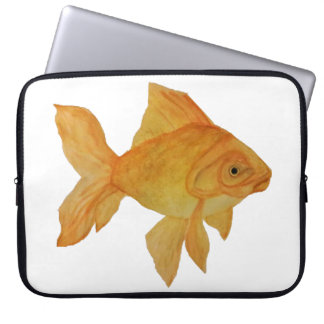 Watercolor Goldfish Laptop Bag