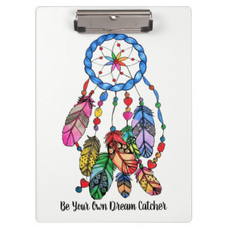 Watercolor gorgeous rainbow dream catcher clipboard