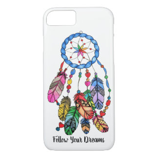 Watercolor gorgeous rainbow dream catcher iPhone 8/7 case