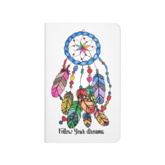 Watercolor gorgeous rainbow dream catcher journal