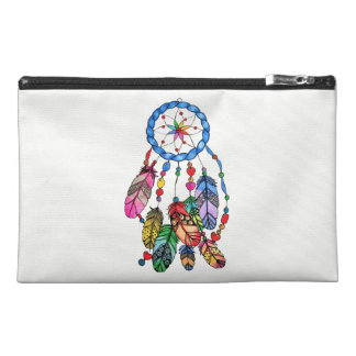 Watercolor gorgeous rainbow dream catcher travel accessory bag