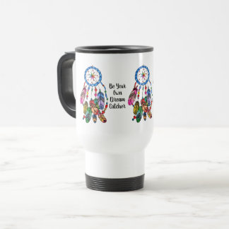 Watercolor gorgeous rainbow dream catcher travel mug