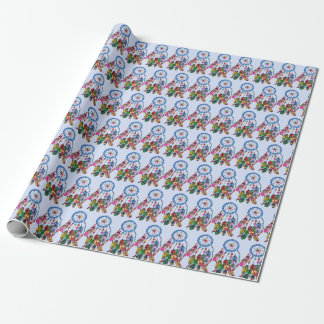 Watercolor gorgeous rainbow dream catcher wrapping paper