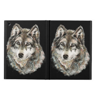 Watercolor  Gray Wolf Animal Nature wolves wild Case For iPad Air