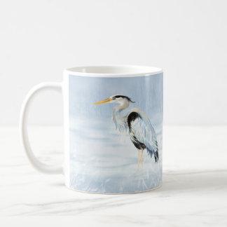 Watercolor Great Blue Heron Bird Coffee Mug