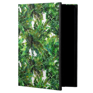 Watercolor green fern forest fall pattern case for iPad air