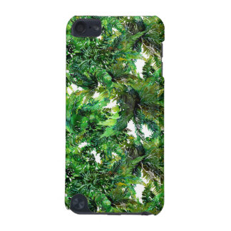 Watercolor green fern forest fall pattern iPod touch 5G case