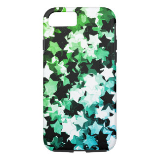 WaterColor Green Kawaii Stars Shibuya Night iPhone 8/7 Case