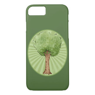 Watercolor green tree iPhone 7 case