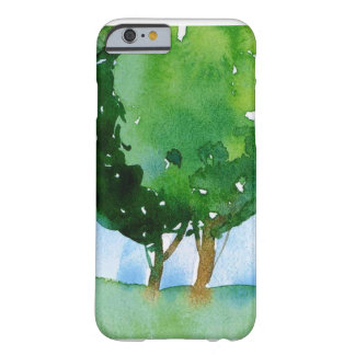 watercolor green trees. barely there iPhone 6 case