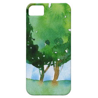 watercolor green trees. iPhone 5 cover