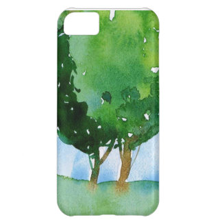 watercolor green trees. iPhone 5C case