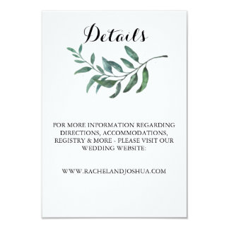 Watercolor Greenery Details Card