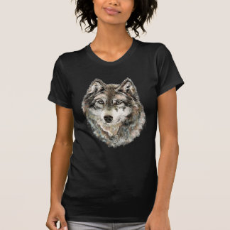 Watercolor Grey Wolf, Wolves, Wild Animal, Nature, T-Shirt