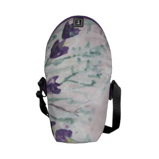 Watercolor grunge background with bells courier bag