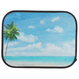 Watercolor grunge image of beach car mat