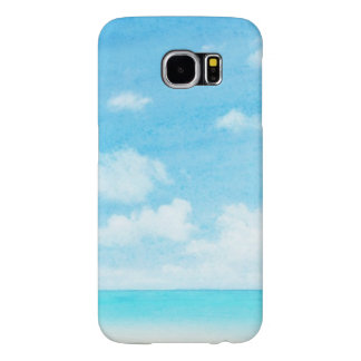 Watercolor grunge image of beach samsung galaxy s6 cases