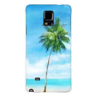 Watercolor grunge image of beach galaxy note 4 case