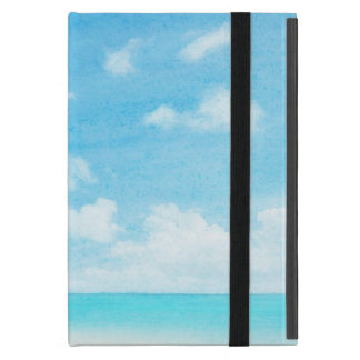 Watercolor grunge image of beach case for iPad mini