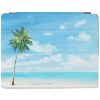 Watercolor grunge image of beach iPad cover