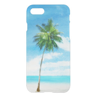 Watercolor grunge image of beach iPhone 8/7 case