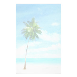 Watercolor grunge image of beach stationery
