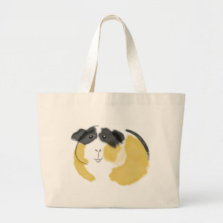 Watercolor Guinea Pig Large Tote Bag