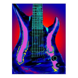 Watercolor Guitar Postcard
