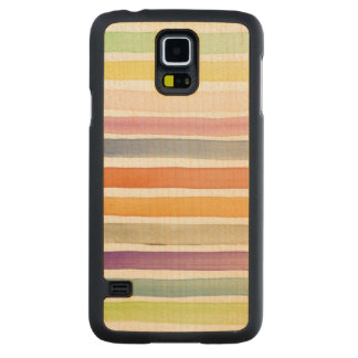 Watercolor hand painted brush strokes, banners. carved maple galaxy s5 case