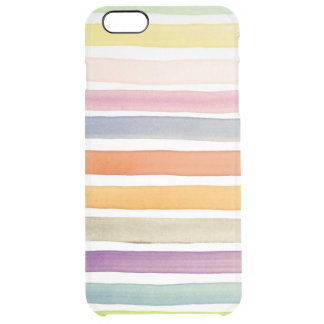 Watercolor hand painted brush strokes, banners. clear iPhone 6 plus case
