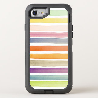 Watercolor hand painted brush strokes, banners. OtterBox defender iPhone 8/7 case