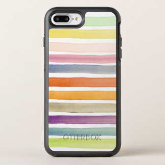 Watercolor hand painted brush strokes, banners. OtterBox symmetry iPhone 8 plus/7 plus case