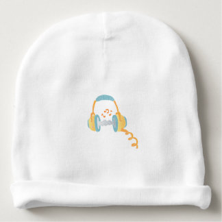 watercolor headphone. baby beanie