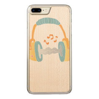 watercolor headphone. carved iPhone 8 plus/7 plus case