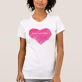Watercolor Heart - Customizable T-Shirt