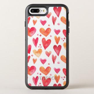 Watercolor HEART OtterBox Symmetry iPhone 8 Plus/7 Plus Case